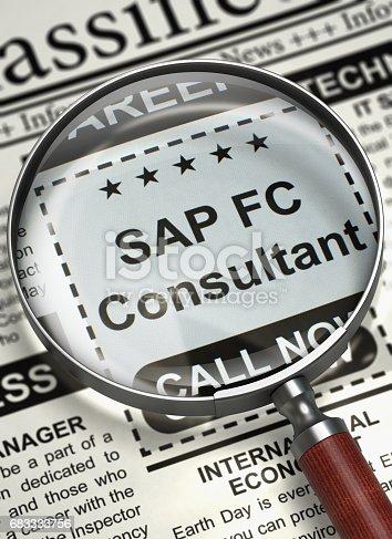 istock SAP FC Consultant Job Vacancy. 3D 683333756