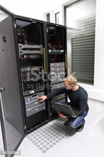 istock IT Consultant Maintains Backup in Datacenter 167242685