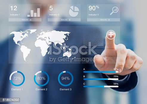 istock Consultant presenting a dashboard with key performance indicators 518524202