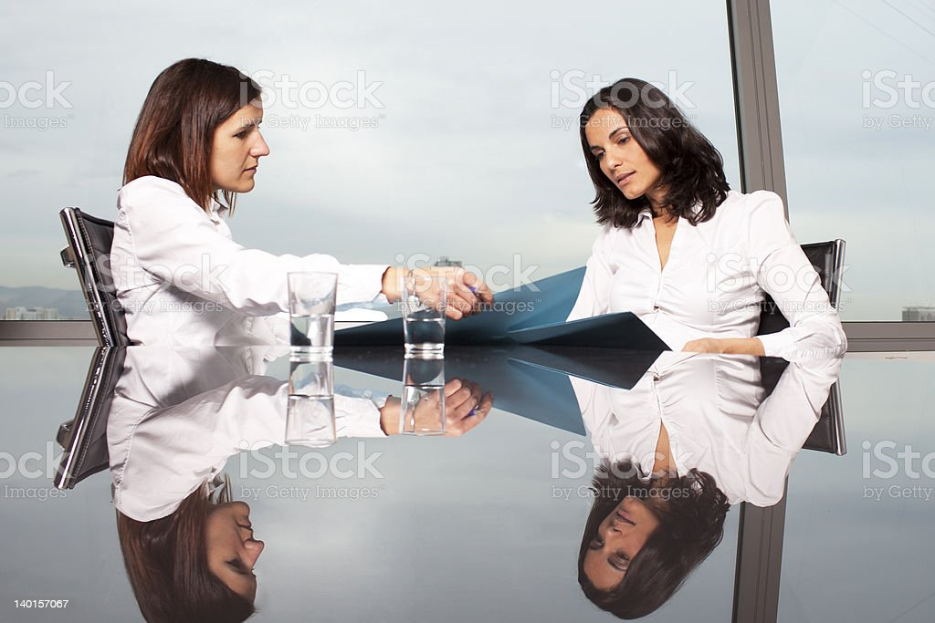 Consultation with financial adviser royalty-free stock photo