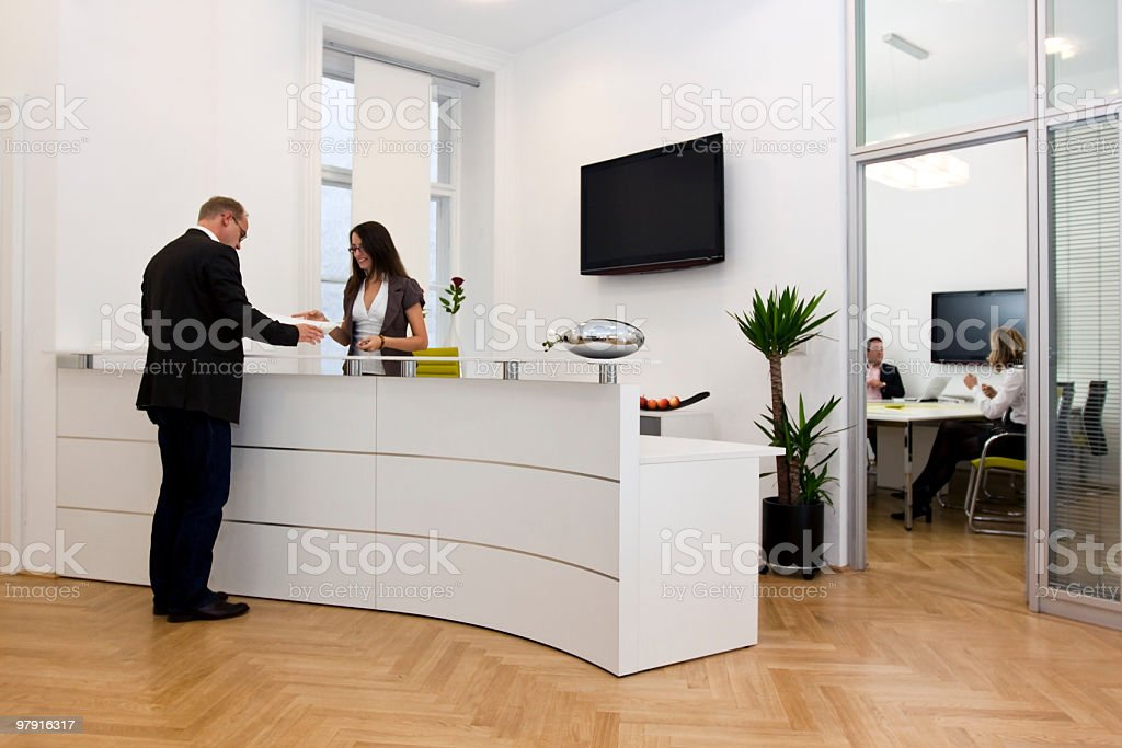consulting a customer stock photo