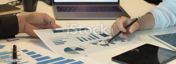 1127866562 istock photo Consulting on business strategy and investment planning. 1133738309