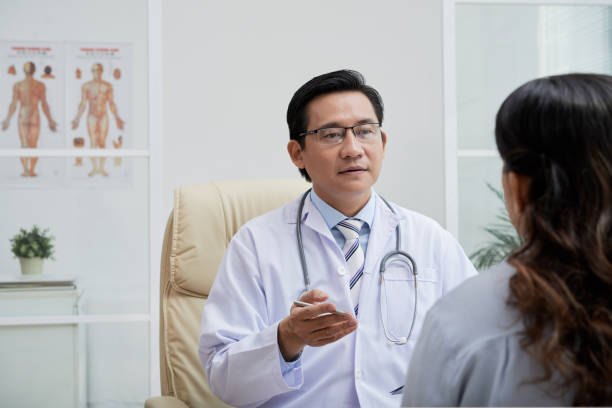 Consulting patient stock photo