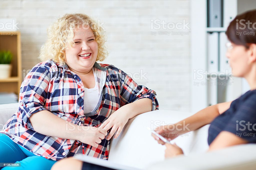 Consulting psychologist royalty-free stock photo