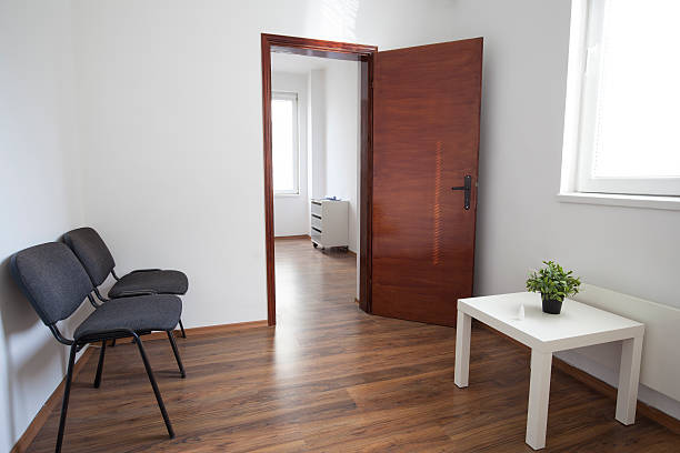 Consulting Room and Waiting Room stock photo