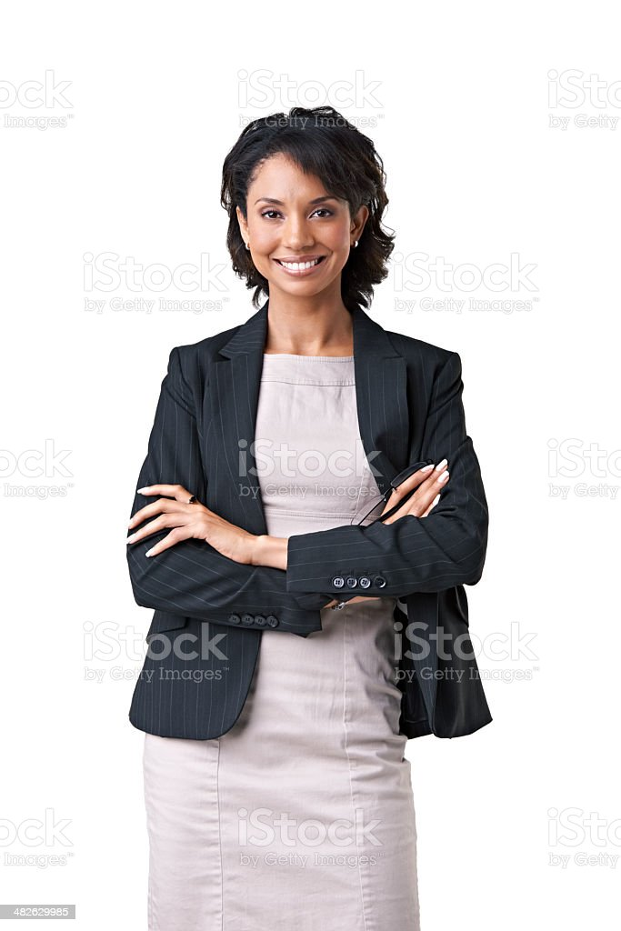 Consulting with a smile stock photo