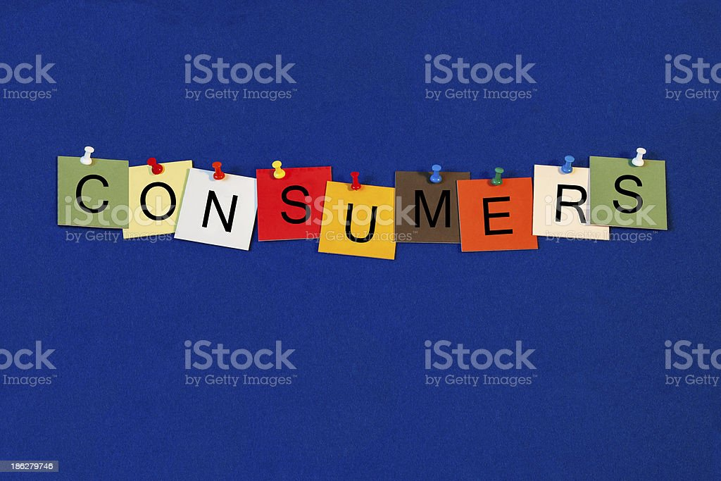 Consumer - Business Sign royalty-free stock photo
