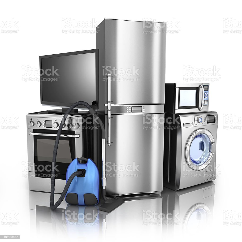 Consumer electronics stell stock photo