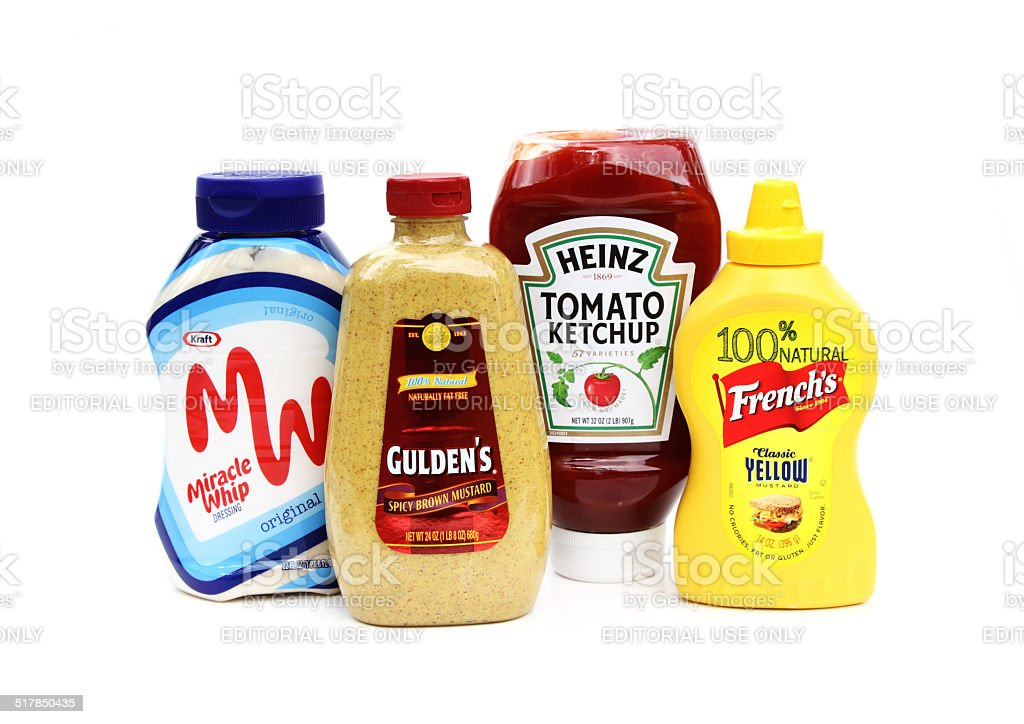 Consumer product condiments stock photo
