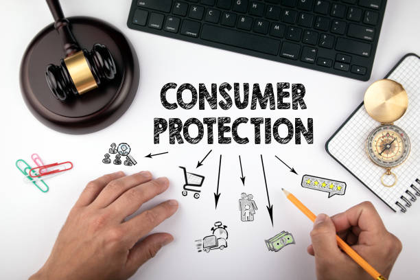 consumer protection, Law and justice concept stock photo
