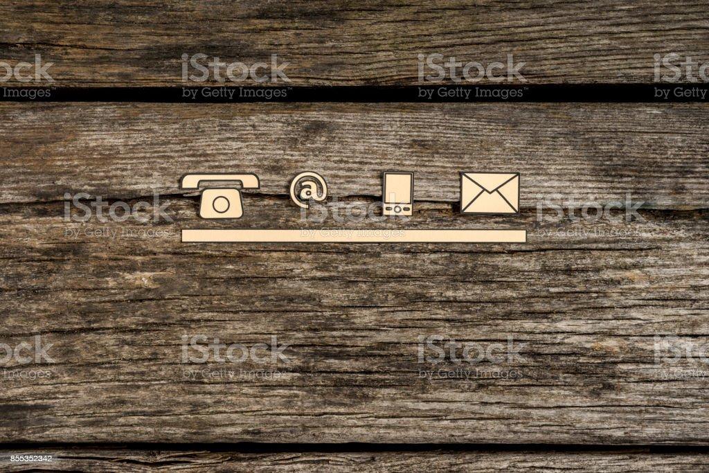 Wenden Sie sich an und Kommunikation Symbole – Foto