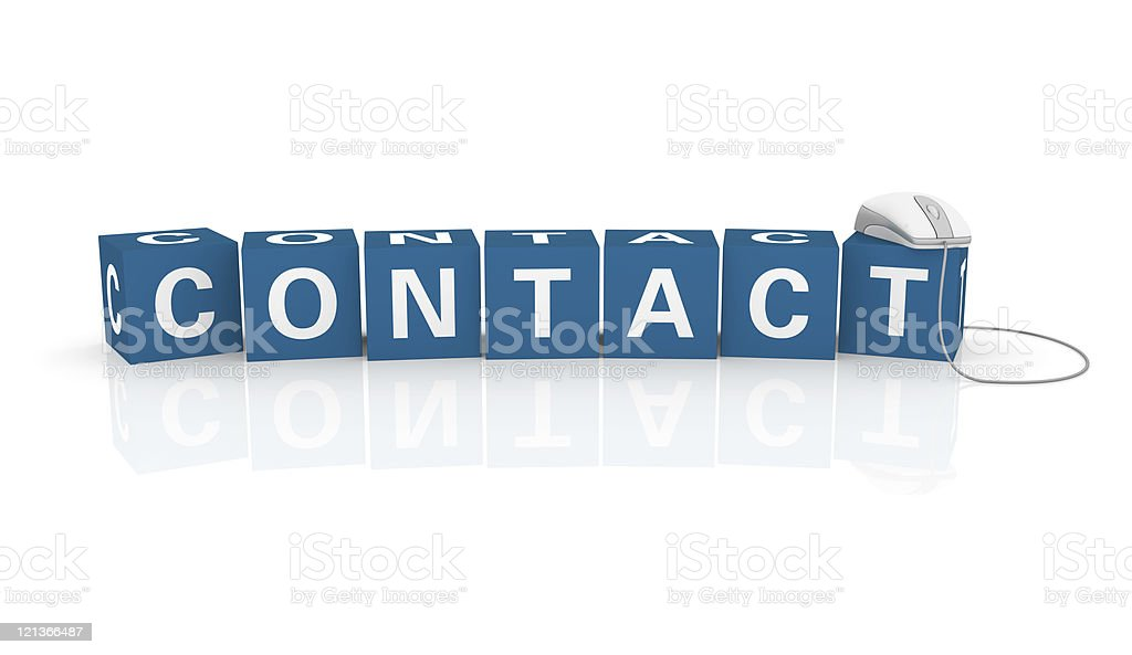 Contact Cubes with Computer Mouse royalty-free stock photo