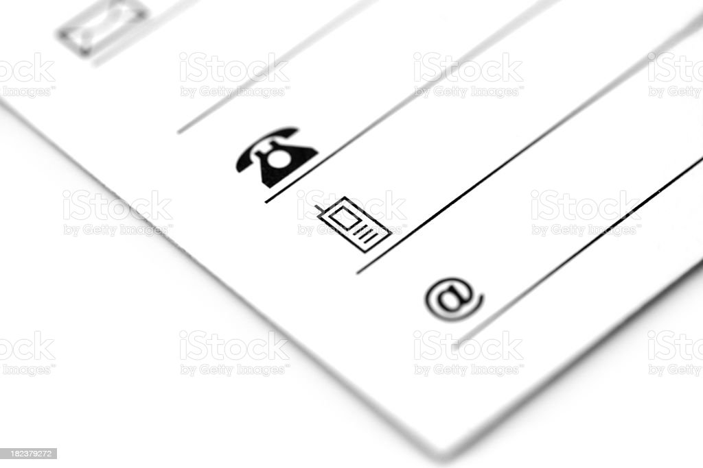 Contact details royalty-free stock photo