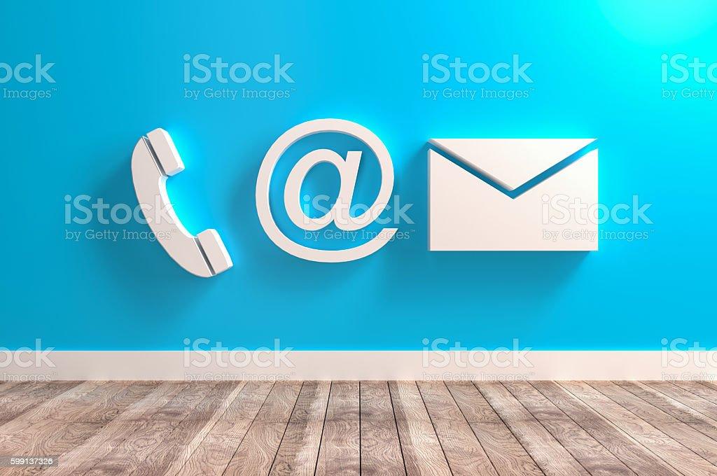 Contact Info Symbols stock photo