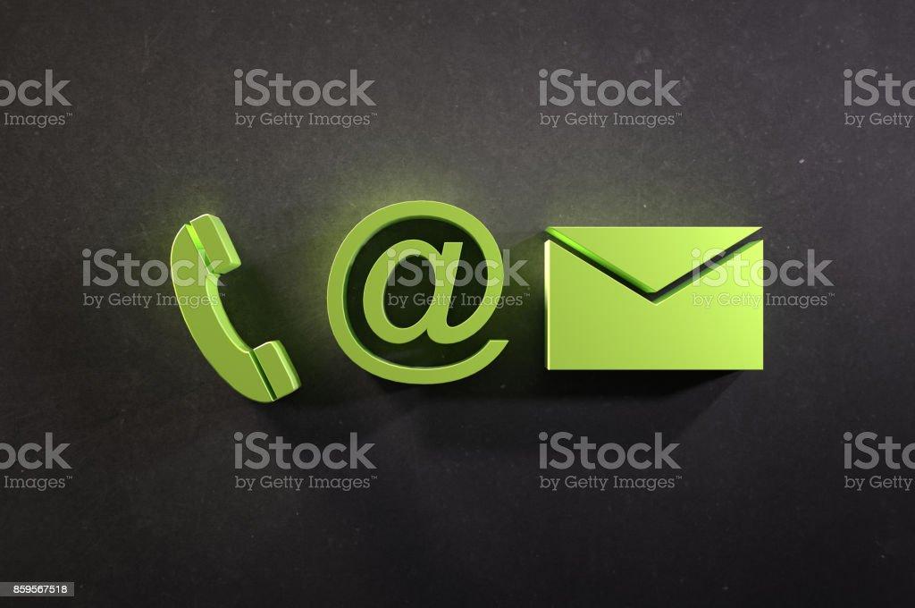 Kontakt Info-Symbole – Foto