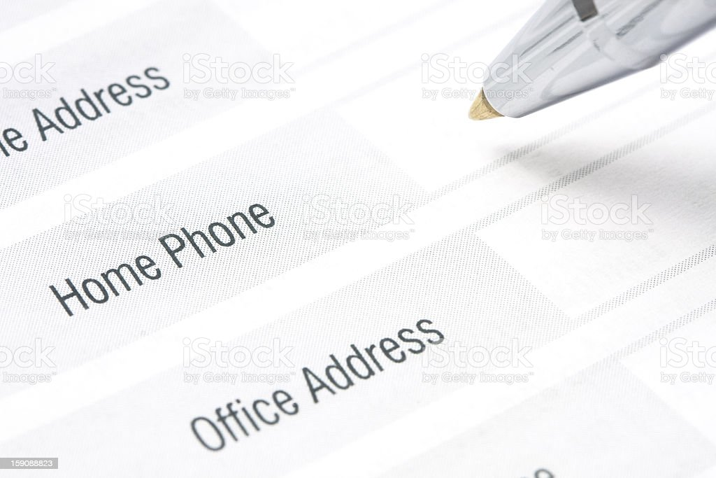 Contact Information royalty-free stock photo