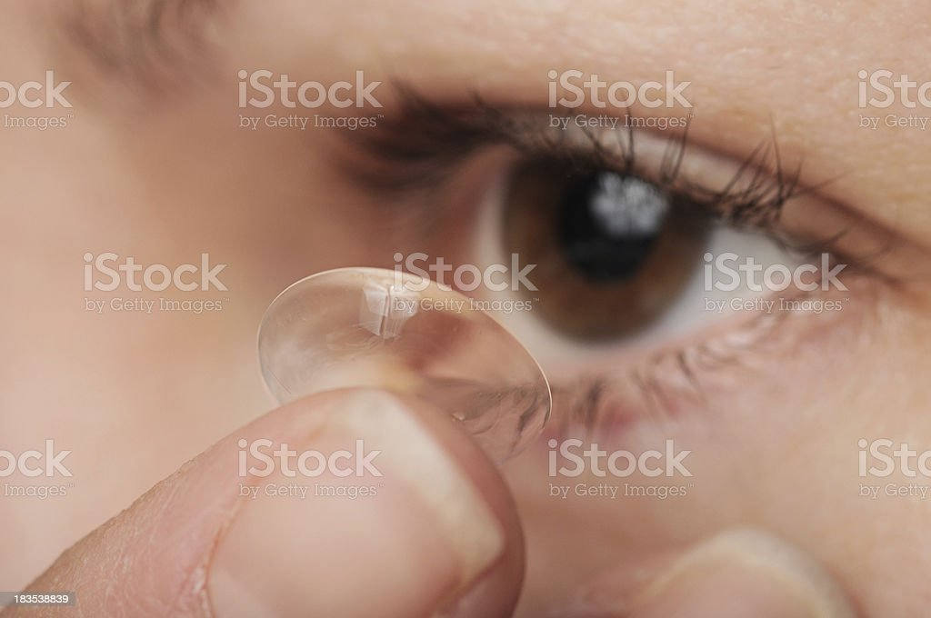 Contact lens royalty-free stock photo