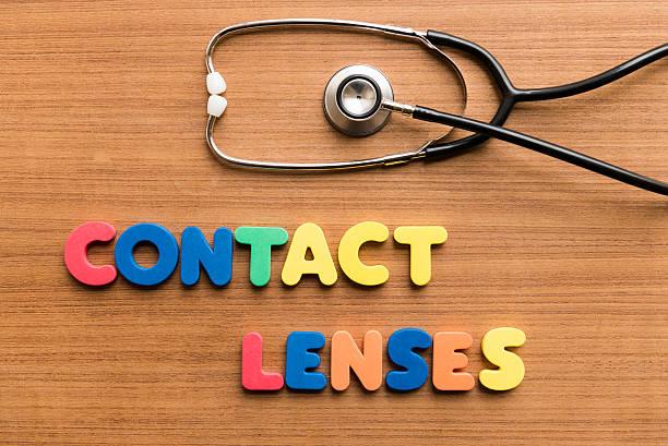 Contact lenses stock photo