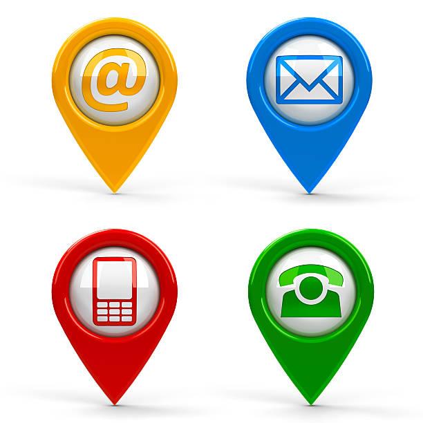 carte pointeurs de contact - baguette pour pointer photos et images de collection