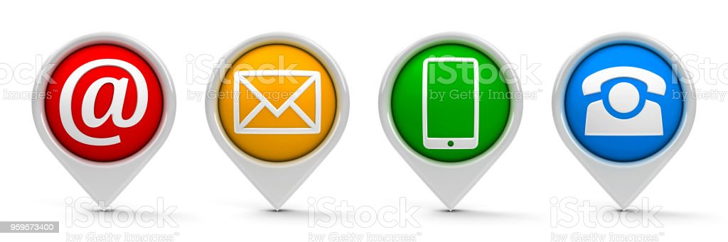 Contact map pointers #2 stock photo