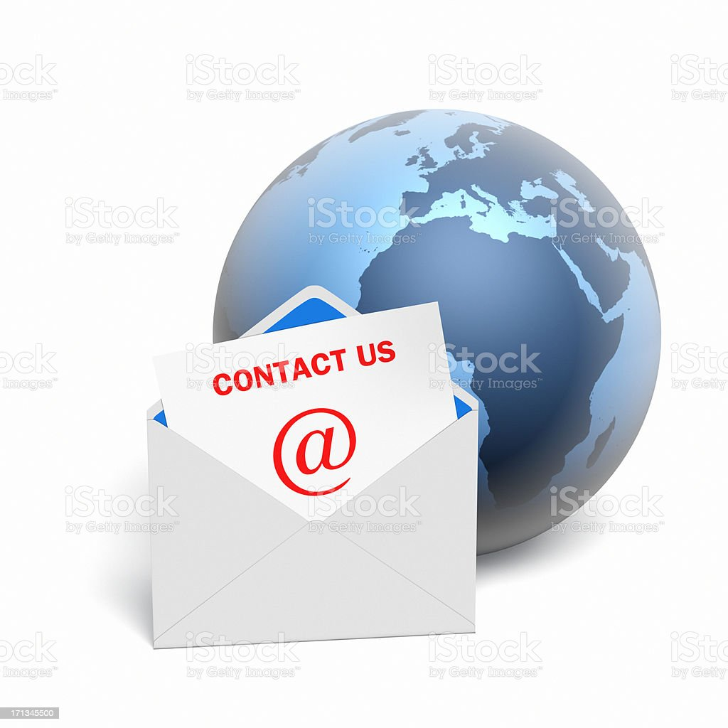 Contact Us by Email XL stock photo
