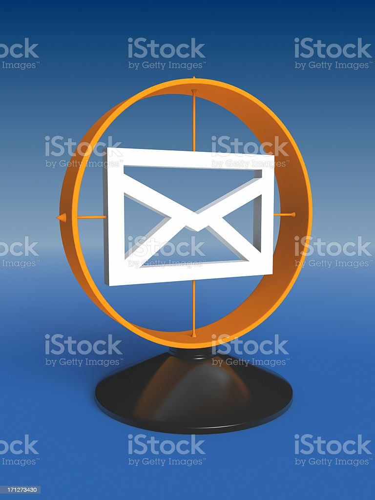 Contact Us by Post XL royalty-free stock photo