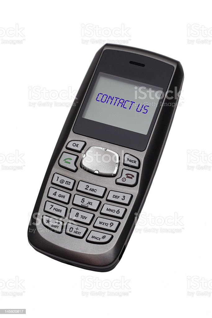 Contact Us - Cell Phone royalty-free stock photo