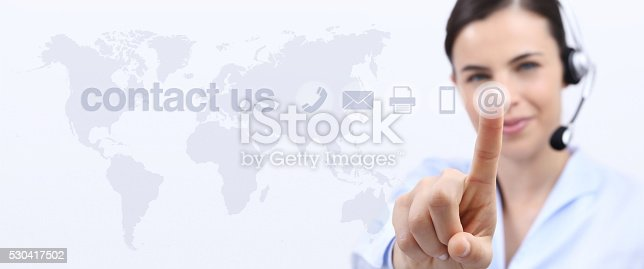 istock contact us, customer service operator woman with headset smiling 530417502
