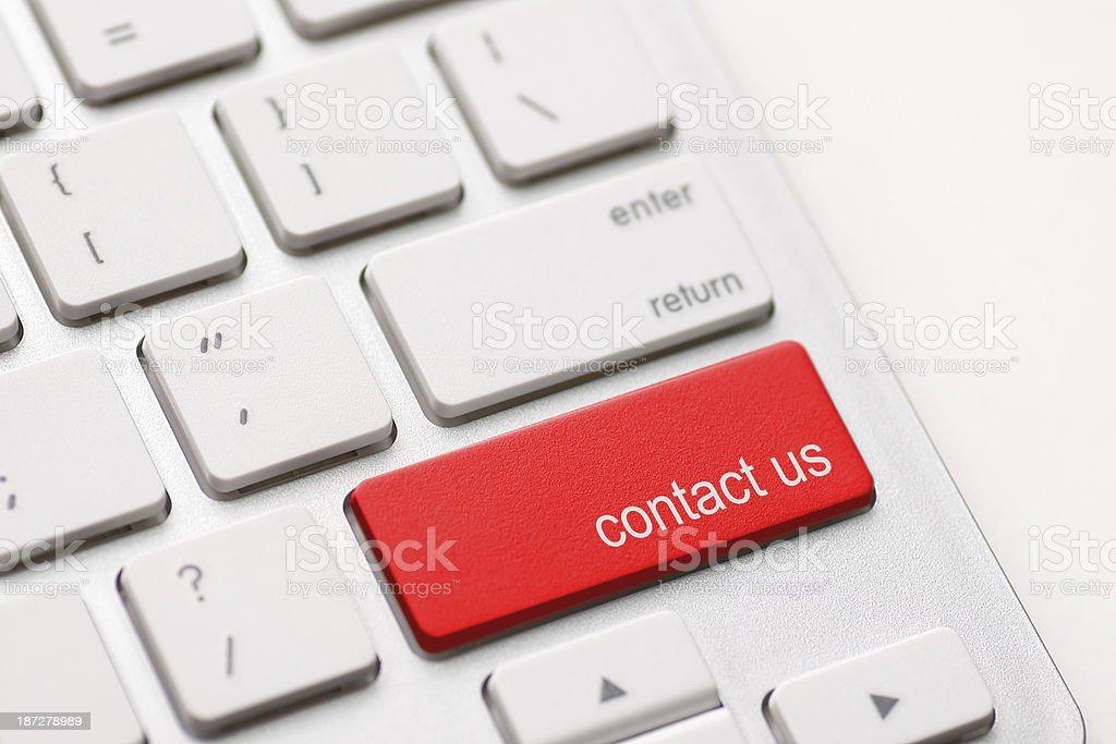 contact us key stock photo