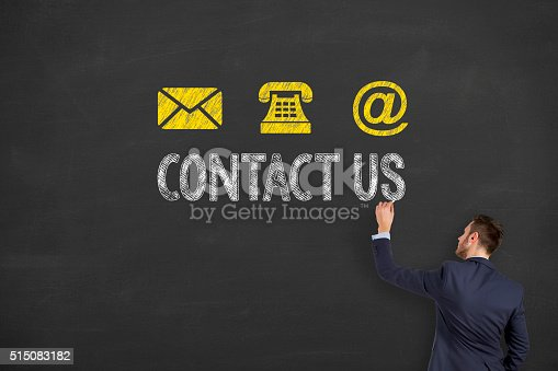 istock Contact Us on Blackboard 515083182