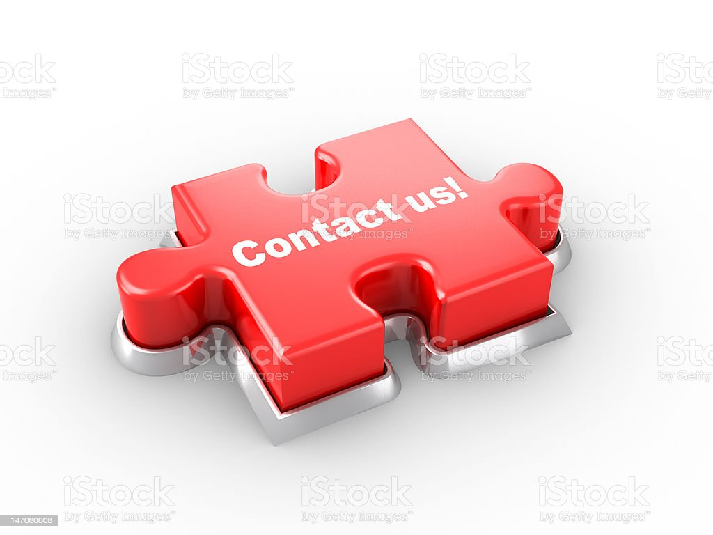 Contact us! puzzle push button royalty-free stock photo