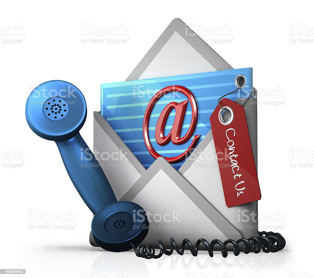Contact us sign royalty-free stock photo