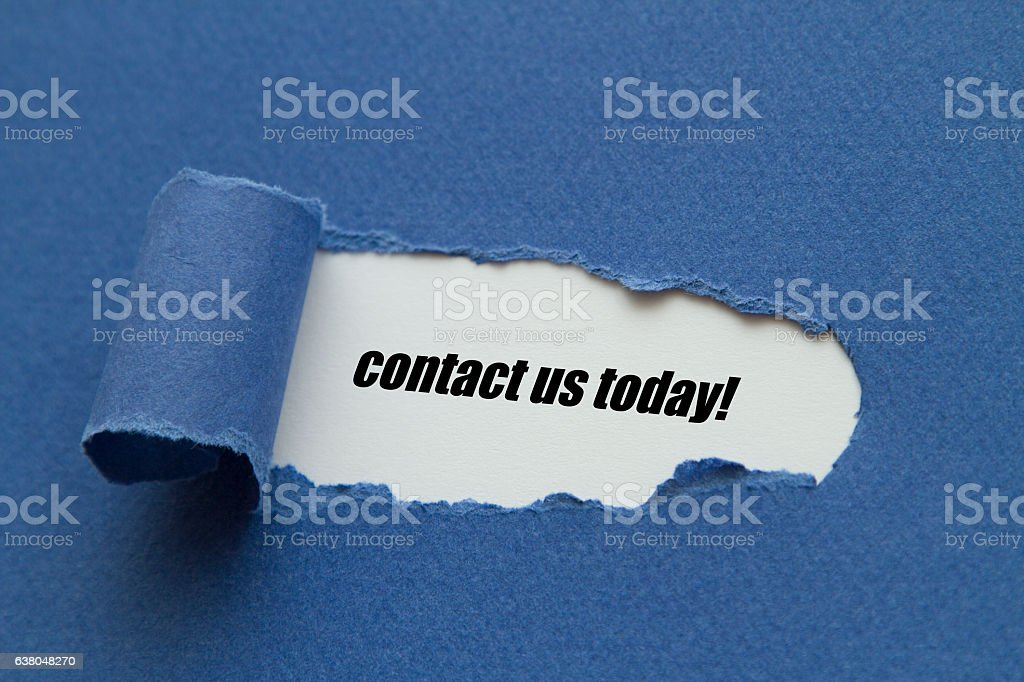 contact us today stock photo