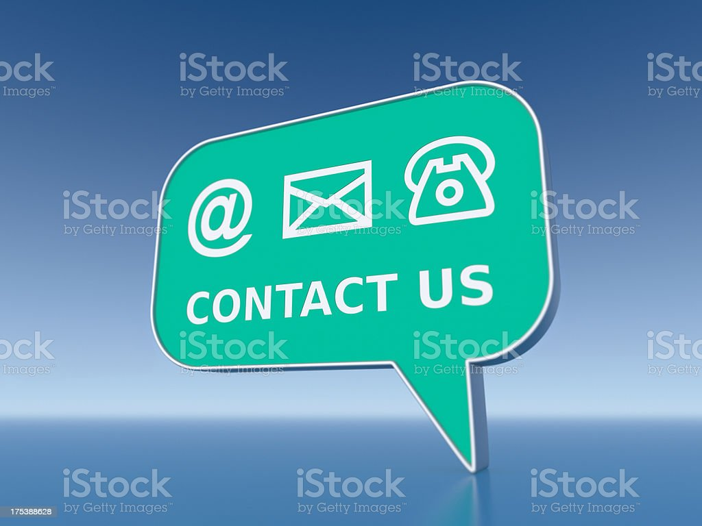 Contact Us XL+ royalty-free stock photo