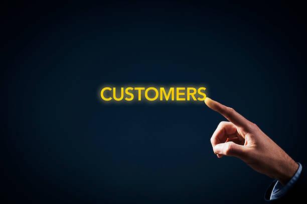 contact with customers - gerente de cuentas fotografías e imágenes de stock