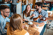 istock Contactless Payment in a coffee shop 1180768785