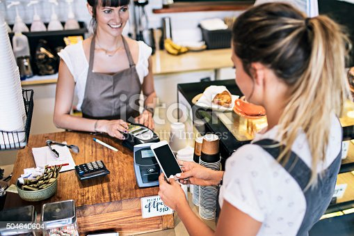 istock Contactless payment in the cafeteria 504640604