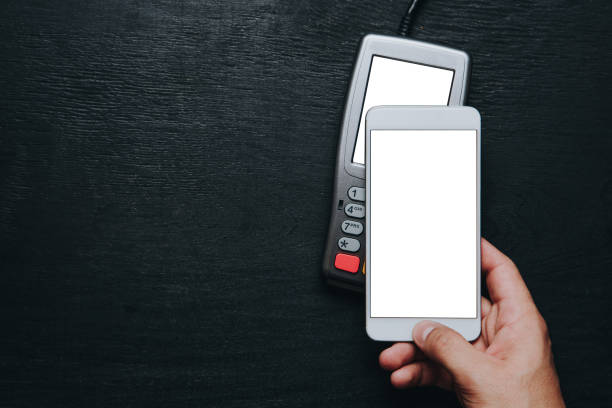 Contactless smartphone payment. stock photo