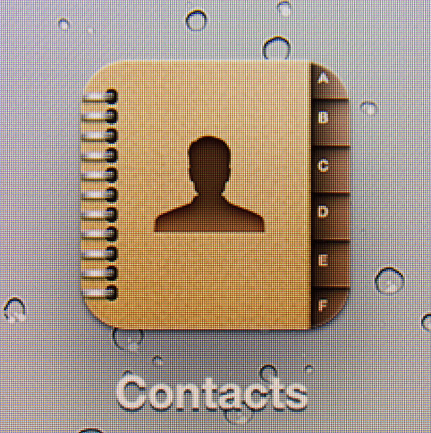 contacts - address book stock photos and pictures