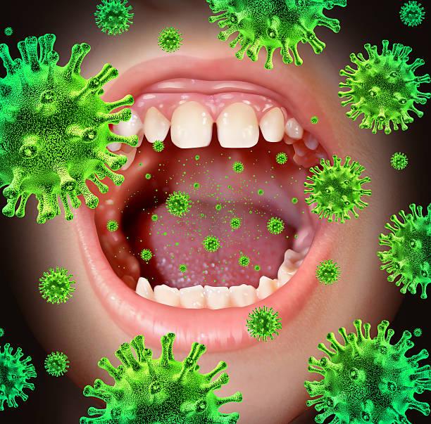 doença contagiosa - boca suja imagens e fotografias de stock