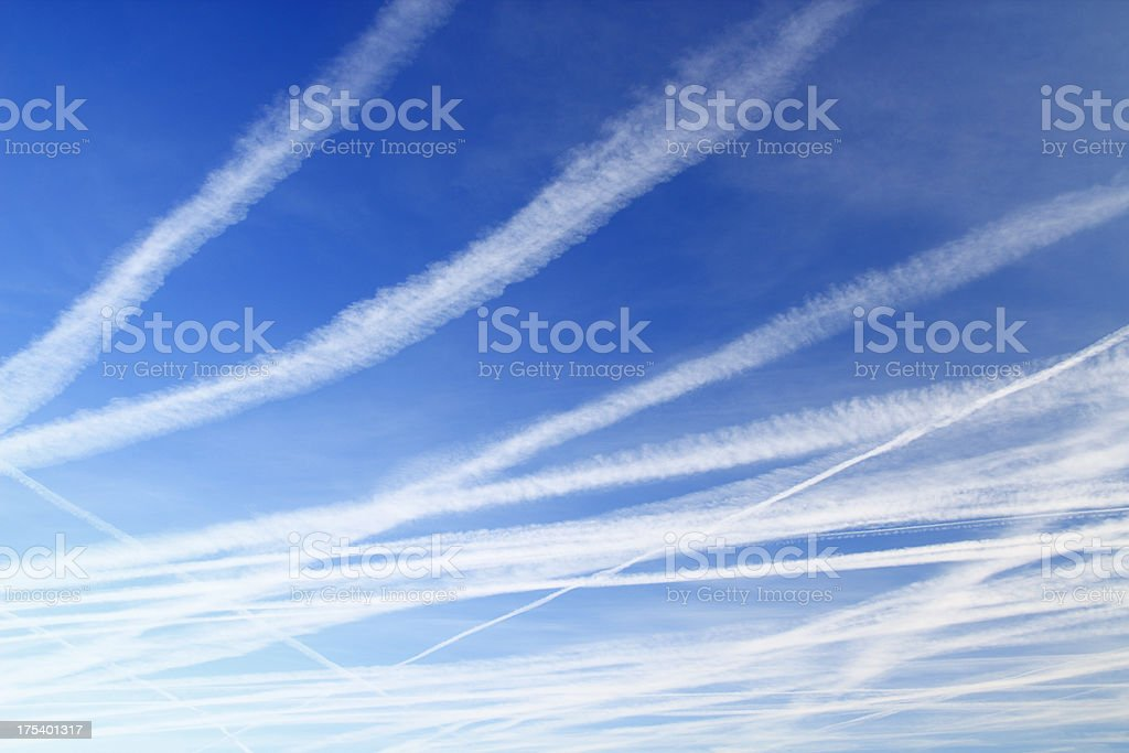 Contail sky stock photo