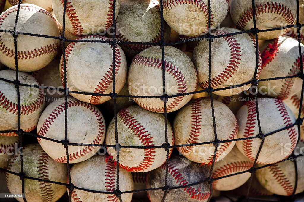 Contained Baseballs stock photo