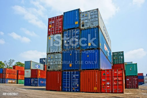 istock container at cargo depot, Ho chi Minh city 481062841