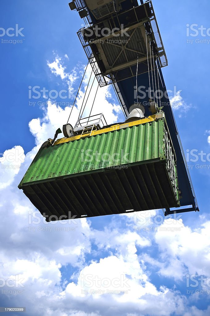 container box in cargo operation royalty-free stock photo