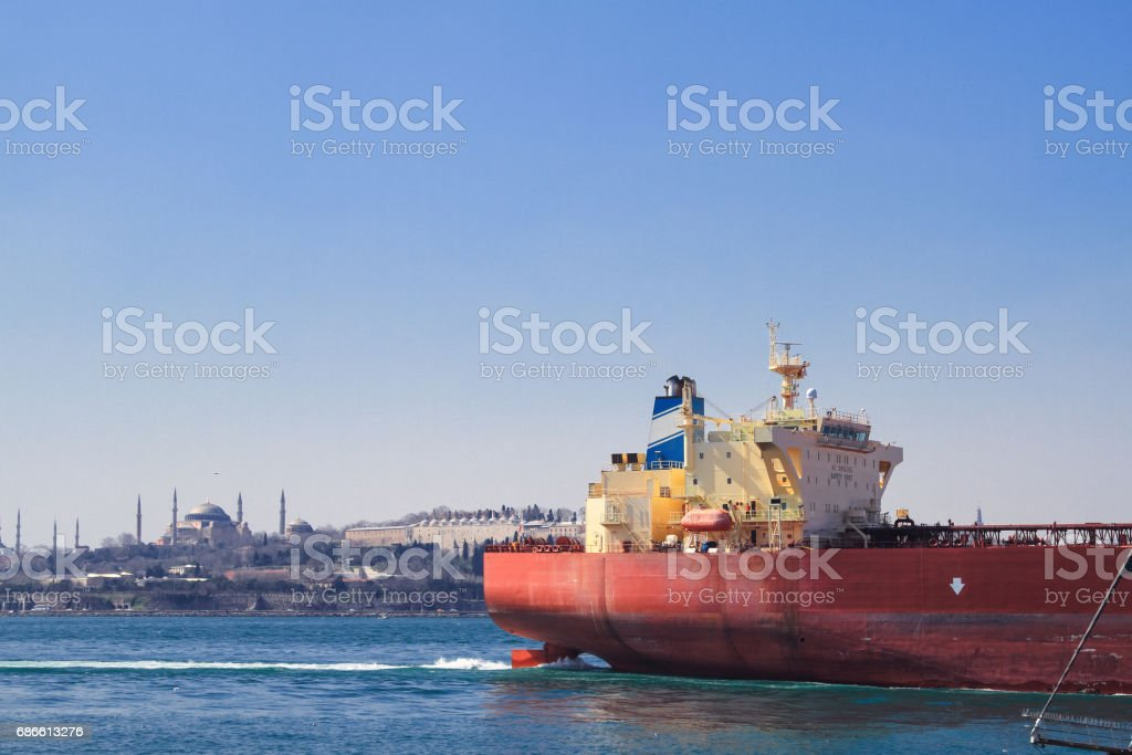 Container cargo freight ship royalty-free stock photo