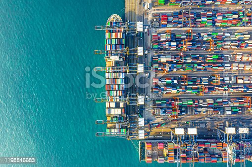 Container Cargo freight ship Terminal in Hong kong