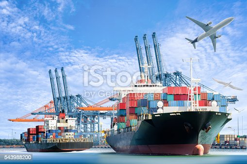 637816284istockphoto Container Cargo ship and Cargo plane for logistic import export 543988200