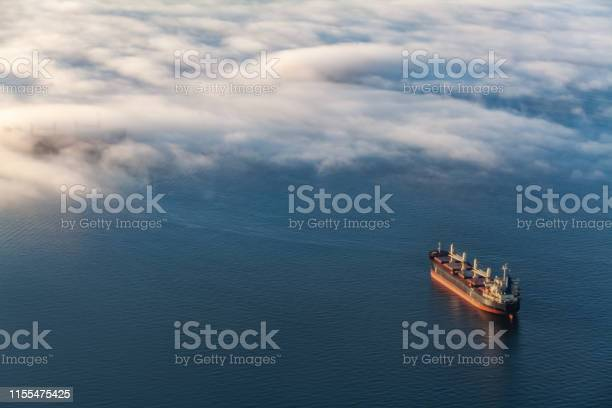 Photo of Container cargo ship in Vancouver's English Bay
