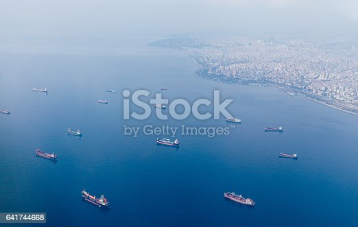 istock Container Cargo ships and Oil Tankers Sailing 641744668