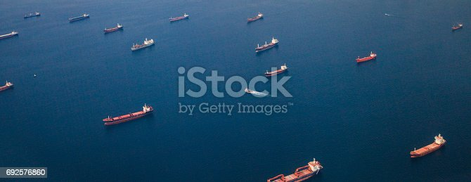 istock Container Cargo ships and Oil Tankers Sailing 692576860